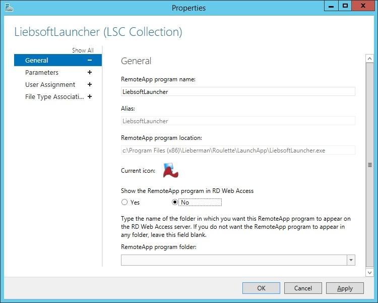 Configure Microsoft Remote Desktop Services for Application
