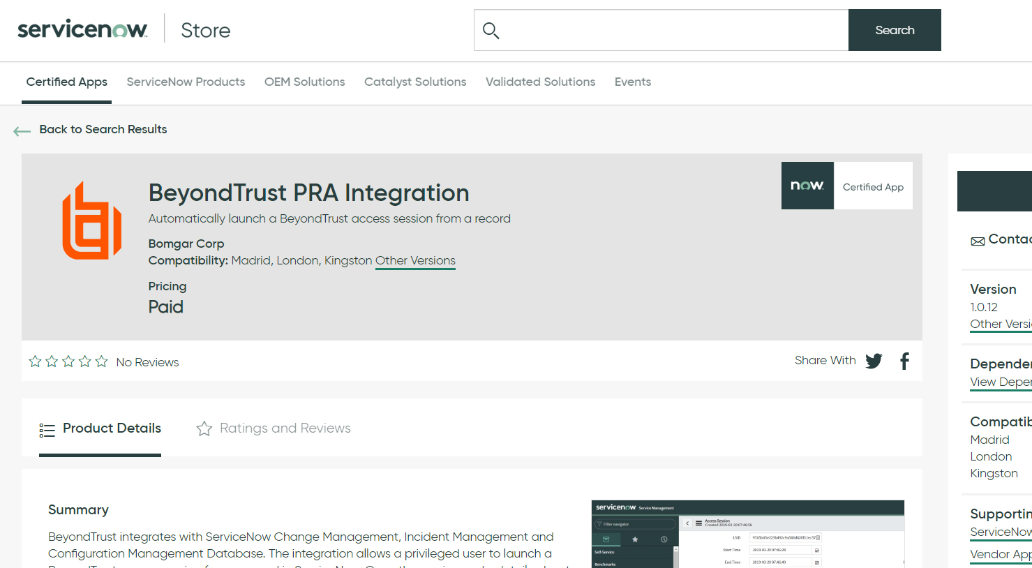 Configure ServiceNow for Integration with BeyondTrust PRA